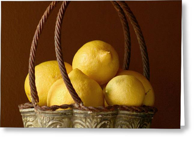 Sour Greeting Cards - Tuscany Lemons Greeting Card by Art Block Collections