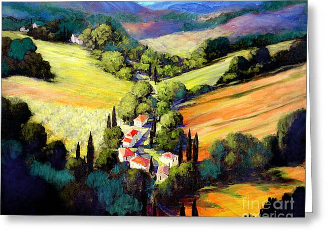Tuscan Hills Greeting Cards - Tuscany Greeting Card by Michael Swanson