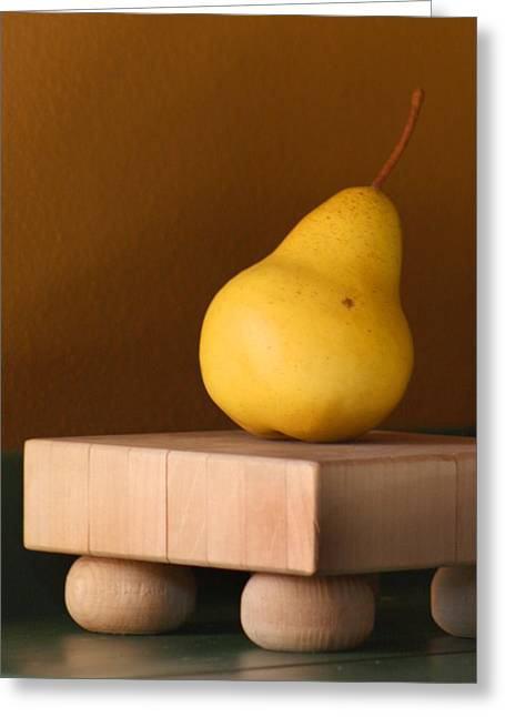 One Pear Greeting Cards - Tuscany Pear Greeting Card by Art Block Collections