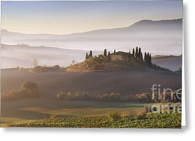 Tuscany Greeting Card by Rod McLean