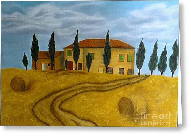 Bale Pastels Greeting Cards - Tuscany - SOLD Greeting Card by Christiane Schulze Art And Photography