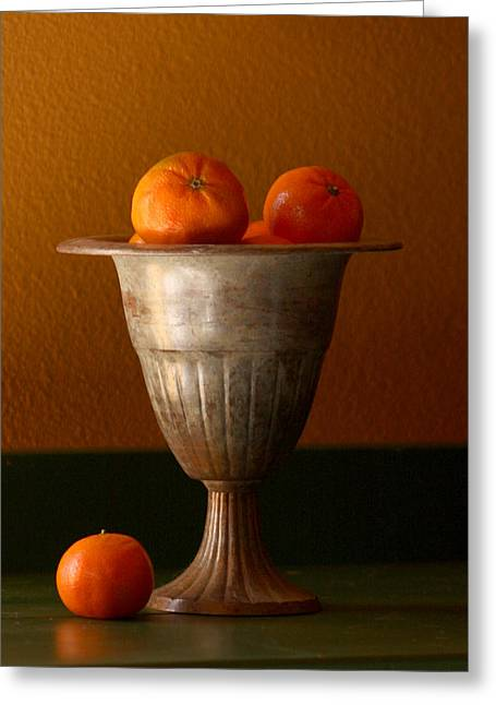 Kitchen Photos Photographs Greeting Cards - Tuscany Tangerines Greeting Card by Art Block Collections