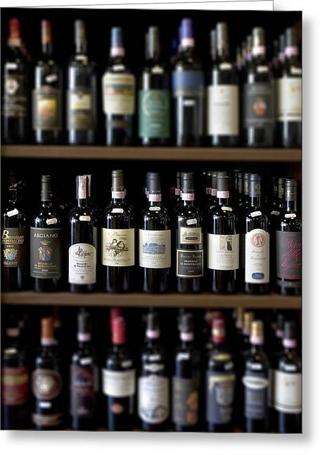 Hall Vineyards Greeting Cards - Tuscany wineshop Greeting Card by Al Hurley