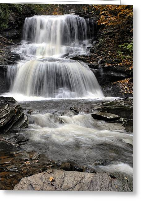 Tuscarora Greeting Cards - Tuscarora Falls Greeting Card by Dave Mills