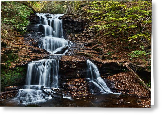 Tuscarora Greeting Cards - Tuscarora Falls Greeting Card by Marty Straub