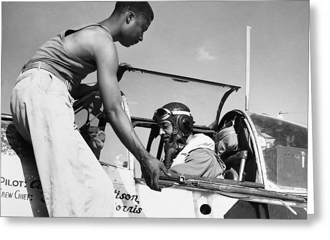 Tuskegee Airmen Greeting Cards - TUSKEGEE AIRMEN, c1943 Greeting Card by Granger