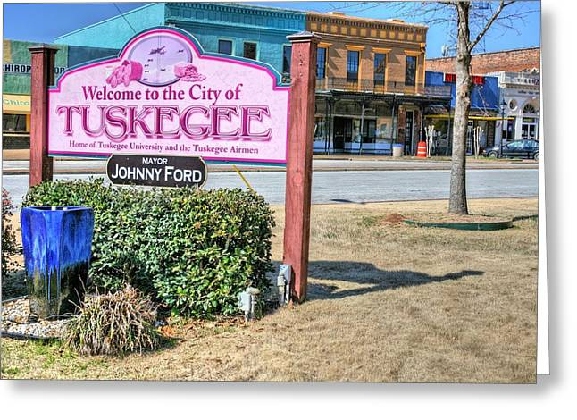 Tuskeegee Greeting Cards - Tuskegee Alabama Greeting Card by JC Findley