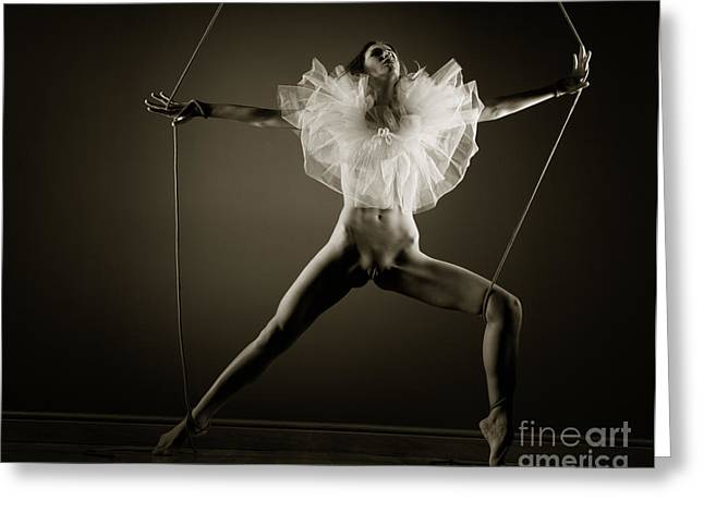 Provocative Greeting Cards - Tied to dance Greeting Card by John Tisbury