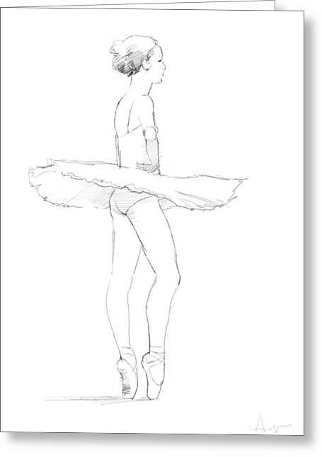 Recently Sold -  - Opera Gloves Greeting Cards - Tutu Greeting Card by H James Hoff