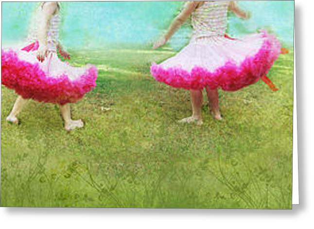 Dancing Girl Greeting Cards - Tutu Parade Greeting Card by Suzanne Barber