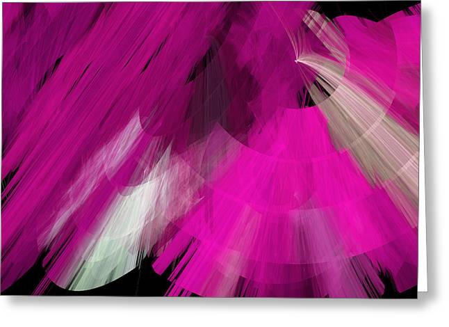Tutu Mixed Media Greeting Cards - TuTu Stage Left Abstract Fuchsia Greeting Card by Andee Design