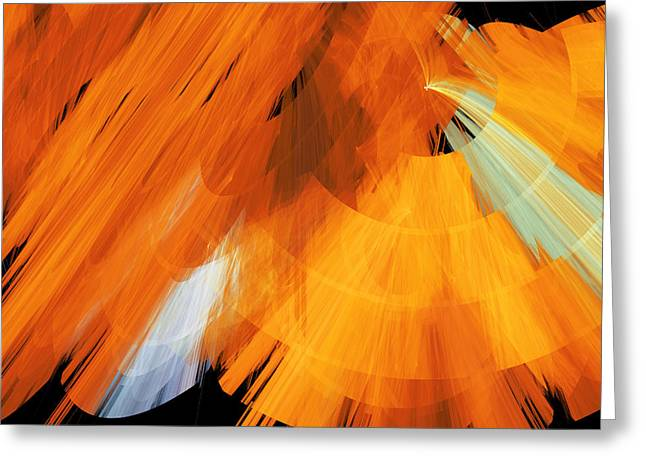 TuTu Stage Left Abstract Orange Greeting Card by Andee Design