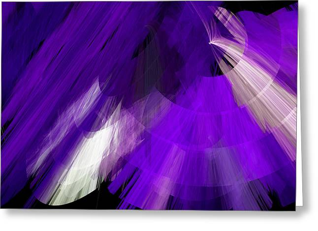 Tutu Mixed Media Greeting Cards - TuTu Stage Left Abstract Purple Greeting Card by Andee Design