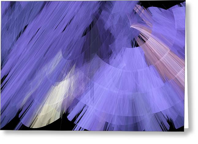 Tutu Mixed Media Greeting Cards - TuTu Stage Left Periwinkle Abstract Greeting Card by Andee Design