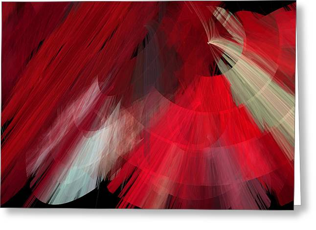Tutu Mixed Media Greeting Cards - TuTu Stage Left Red Abstract Greeting Card by Andee Design