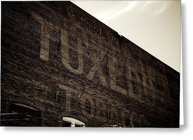 Tuxedo Photographs Greeting Cards - Tuxedo Tobacco Greeting Card by Brandon Addis