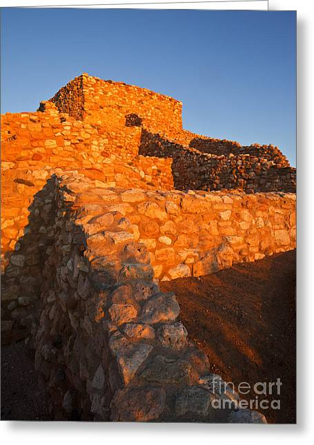 Sinagua Greeting Cards - Tuzigoot Dawn Greeting Card by Mike  Dawson