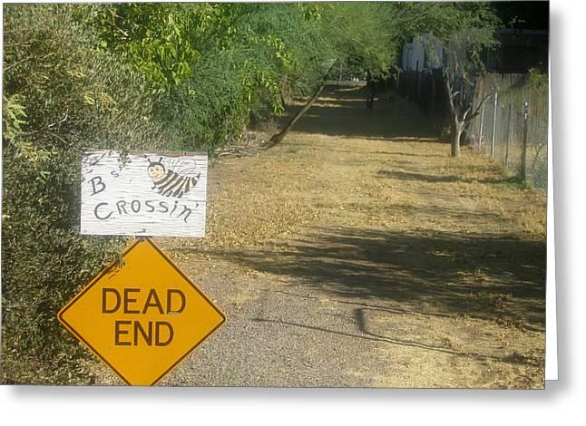Killer B Greeting Cards - TV movie homage Killer Bees 1974 Bs Crossing Black Canyon City Arizona 2004 Greeting Card by David Lee Guss