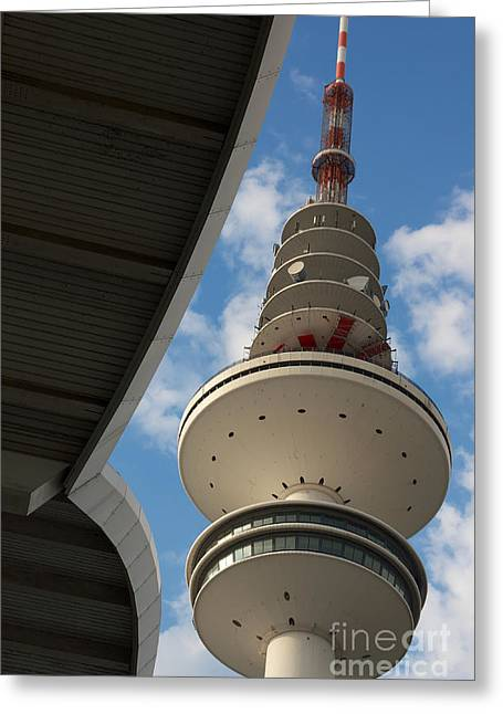 Disk Pyrography Greeting Cards - TV Tower Hamburg Greeting Card by Jannis Werner