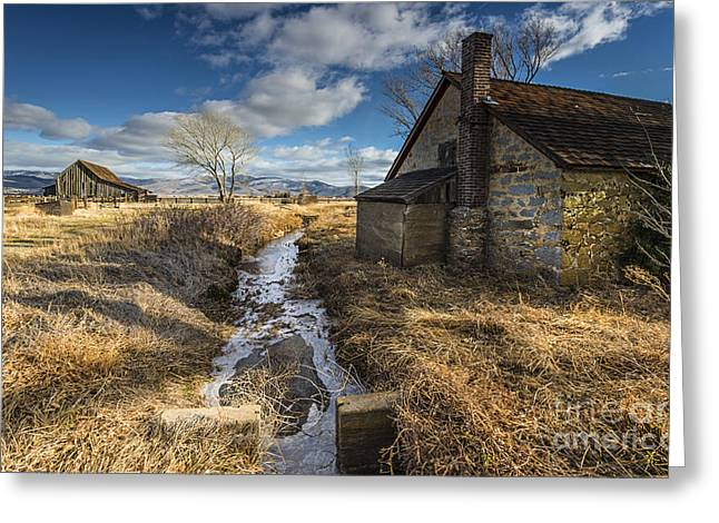 Washoe County Greeting Cards - Twaddle-Pedroli Ranch II Greeting Card by Dianne Phelps