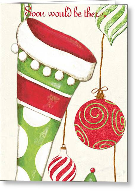 Santa Claus Greeting Cards - Twas the Night... Greeting Card by Debbie DeWitt
