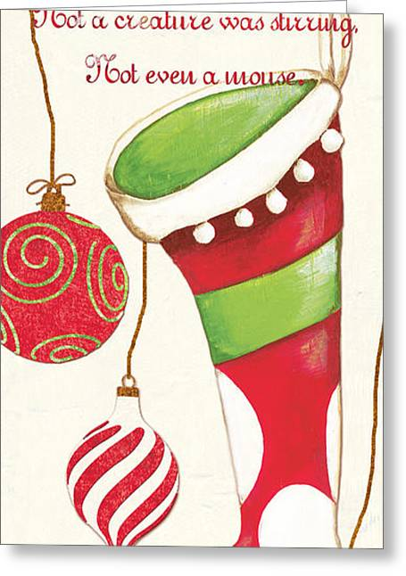 Claus Greeting Cards - Twas the Night...2 Greeting Card by Debbie DeWitt