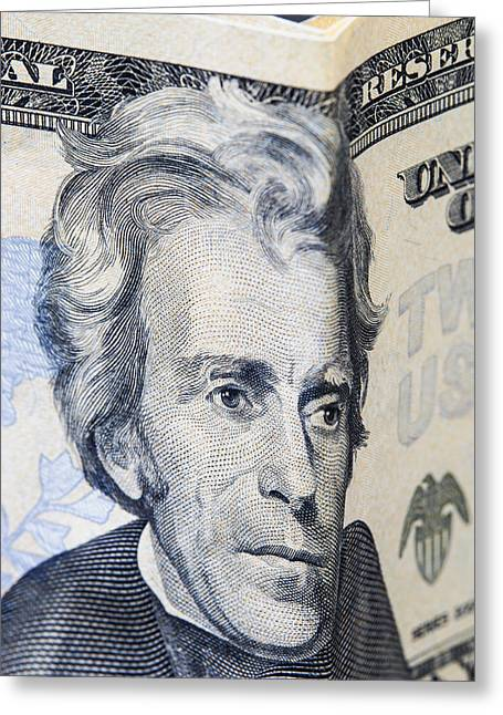 Twenty Dollar Bills Greeting Card by Donald  Erickson