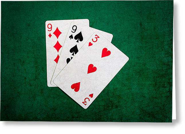 Playing Cards Greeting Cards - Twenty One 10 Greeting Card by Alexander Senin