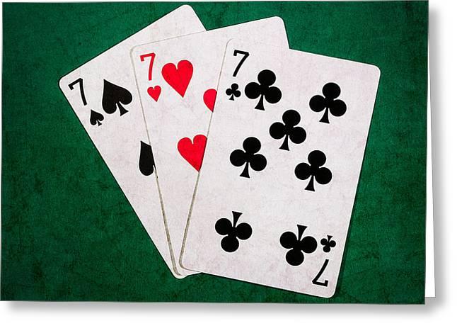 Blackjack Greeting Cards - Twenty One 12 - Square Greeting Card by Alexander Senin