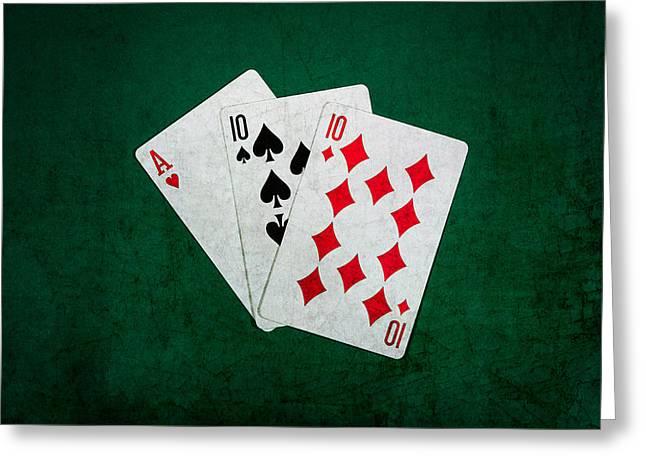 Blackjack Greeting Cards - Twenty One 4 Greeting Card by Alexander Senin