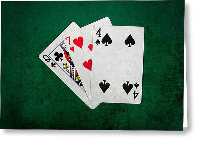Blackjack Greeting Cards - Twenty One 7 Greeting Card by Alexander Senin