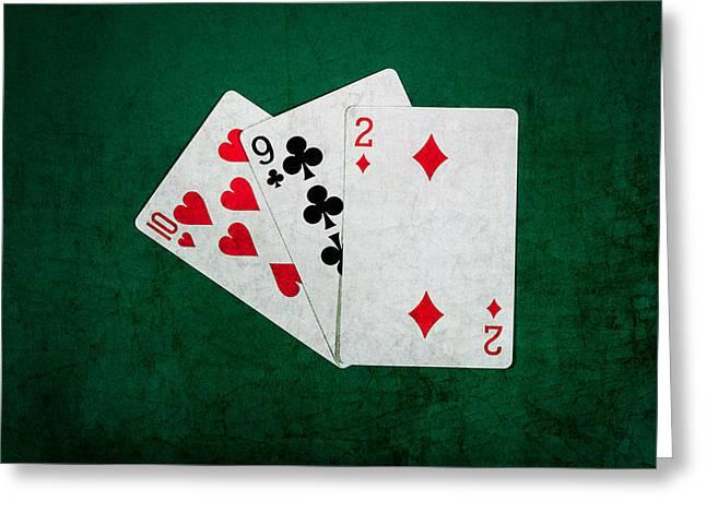 Blackjack Greeting Cards - Twenty One 9 Greeting Card by Alexander Senin