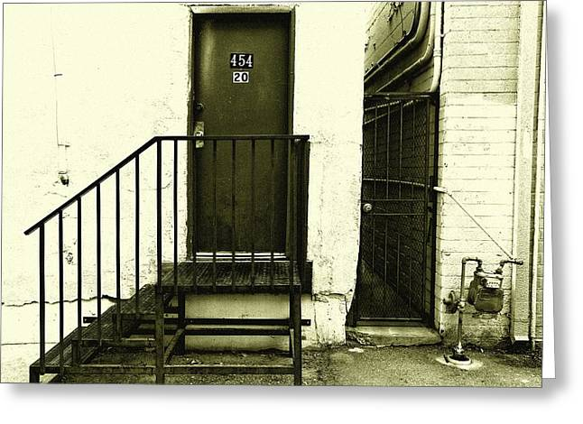 Alley Stairs Greeting Cards - Twenty3 Greeting Card by Mark Ross
