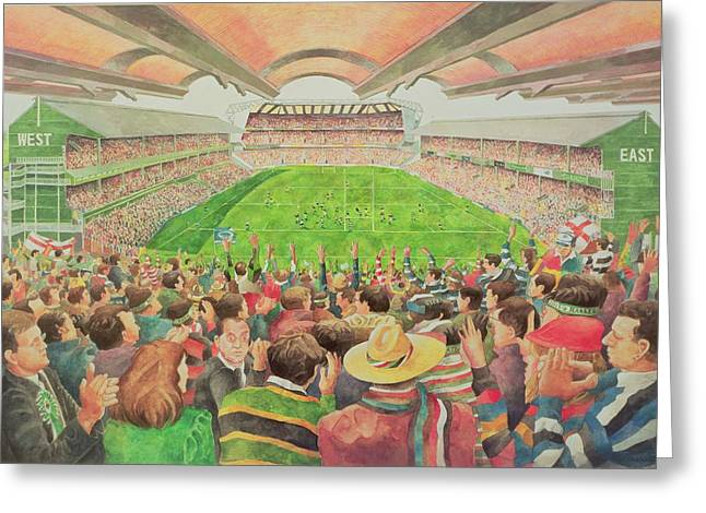 Clapping Greeting Cards - Twickenham The Pilkington Cup Final, 1992 Wc Greeting Card by Gareth Lloyd Ball