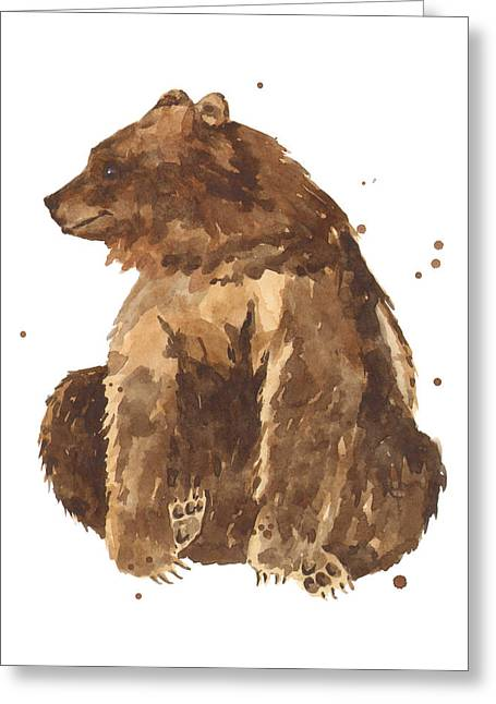 Brown Bears Greeting Cards - TwiddleToes Greeting Card by Alison Fennell