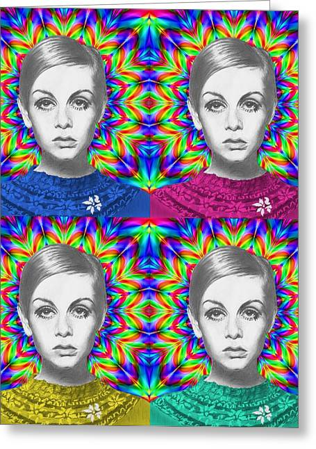 Twiggy Greeting Cards - Twiggy Greeting Card by Alexander Gilbert