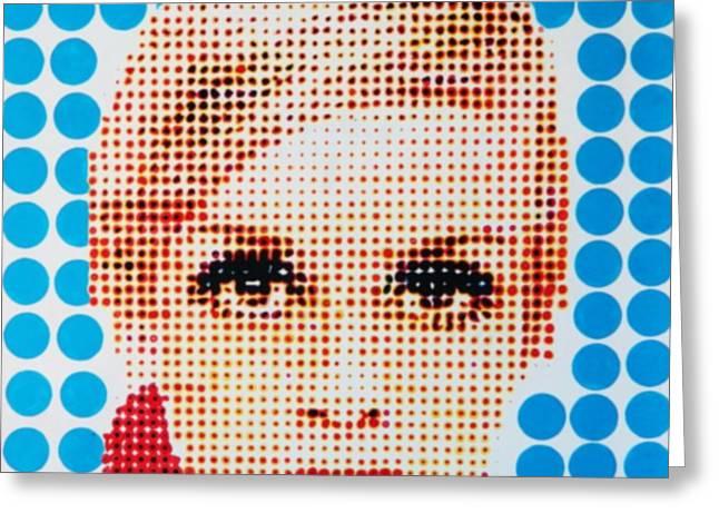 Twiggy Blue dot  Greeting Card by Grant  Swinney