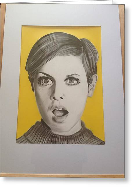 Twiggy Greeting Card by Martin Burton