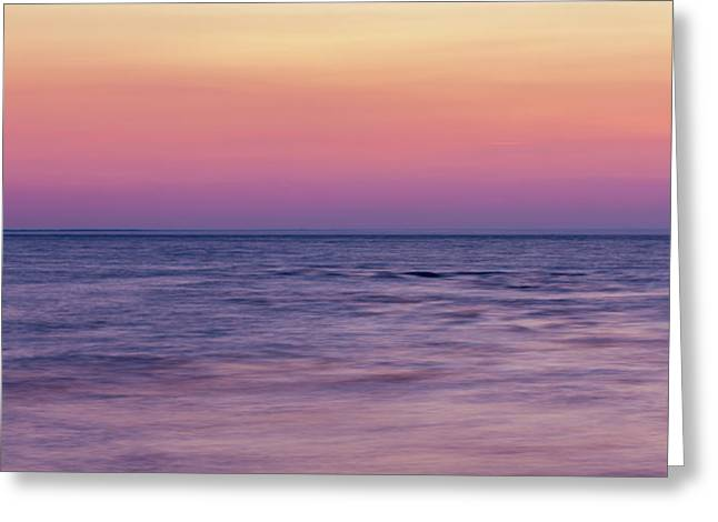 Ocean Panorama Greeting Cards - Twilight - Panorama Greeting Card by Matt Dobson