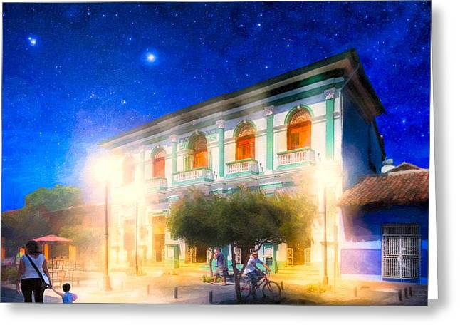 Gold Star Mother Greeting Cards - Twilight And The Streets Of Granada Greeting Card by Mark Tisdale