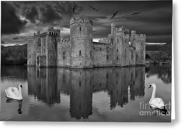 Pete Reynolds Greeting Cards - Twilight at Bodiam Castle Greeting Card by Pete Reynolds