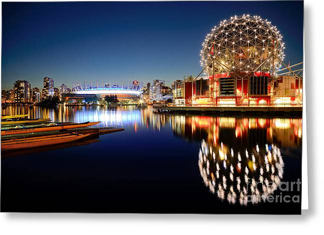 Telus Greeting Cards - Twilight At False Creek Greeting Card by Terry Elniski