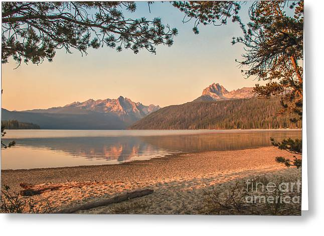 Canon Shooter Greeting Cards - Twilight At Redfish Lake  Greeting Card by Robert Bales