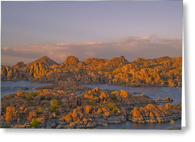 Prescott Greeting Cards - Twilight at the Dells Greeting Card by Tom Kelly