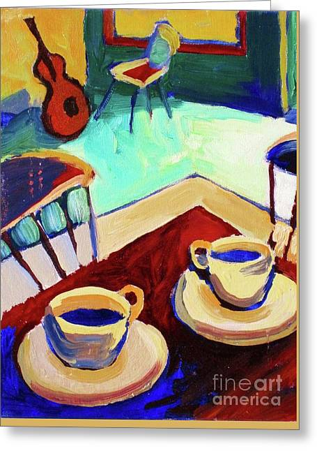 Twilight Coffee Cafe Greeting Card by Frederick  Luff