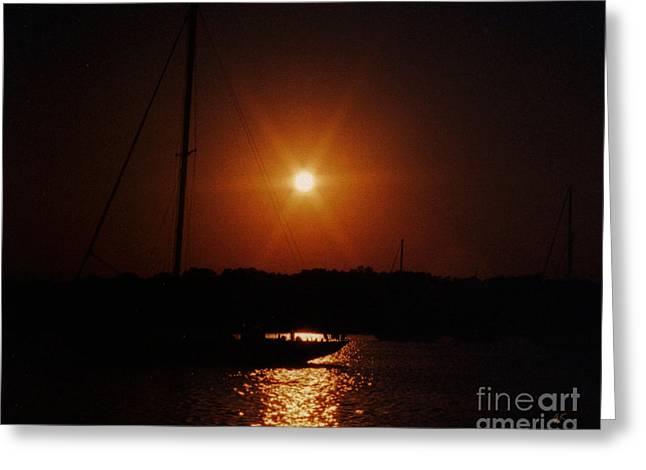 Sunset Framed Prints Greeting Cards - Twilight Greeting Card by Gerlinde Keating - Keating Associates Inc