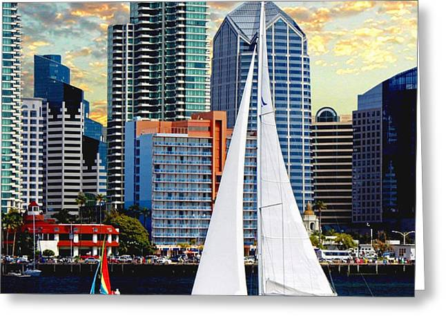 Twilight Harbor Curise1 Greeting Card by Ronald Chambers