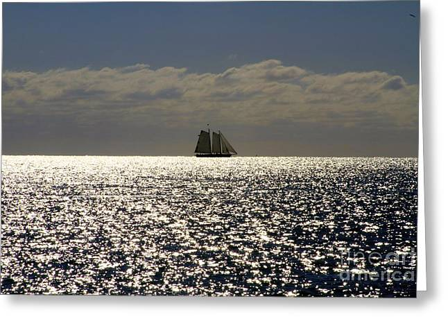 Recently Sold -  - Gloaming Greeting Cards - Twilight in Key West Greeting Card by Sean Conklin