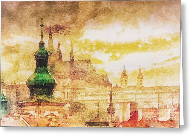 Praga Greeting Cards - Twilight in Praha Greeting Card by Mo T