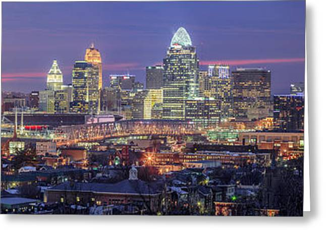 City Lights Greeting Cards - Twilight in the City Greeting Card by Keith Allen